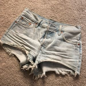 Light wash shorts from urban outfitters